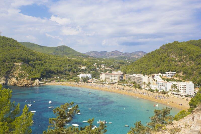 Cala de Sant Vicent, Ibiza imagens de stock royalty free