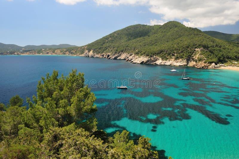 Cala de Sant Vicent, Ibiza Spain imagem de stock royalty free