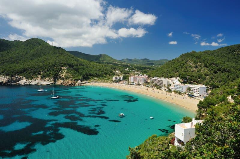Cala de Sant Vicent, Ibiza Spanien stockfoto
