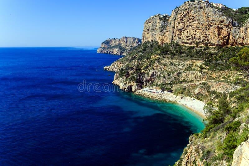 Cala del Moraig beach in Benitatxell of Alicante in Spain. Costa Blanca royalty free stock images
