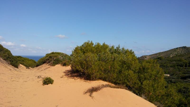 Cala del Pilar, Menorca, Isole Baleari fotografia stock