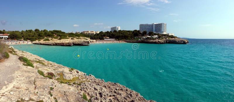Cala Domingos Beach, Calas de Mallorca Majorca, Spain stock images