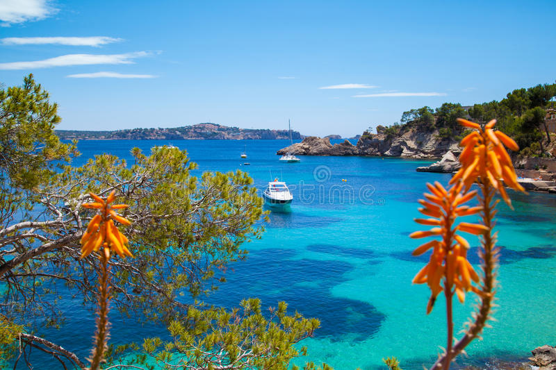 Cala Fornells View in Majorca royalty free stock images