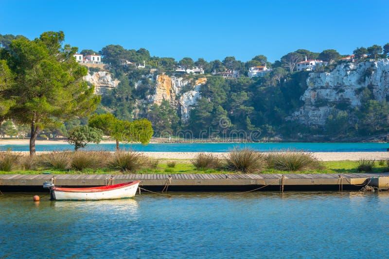 Cala Galdana w Menorca, Balearic wyspy Hiszpania zdjęcia stock
