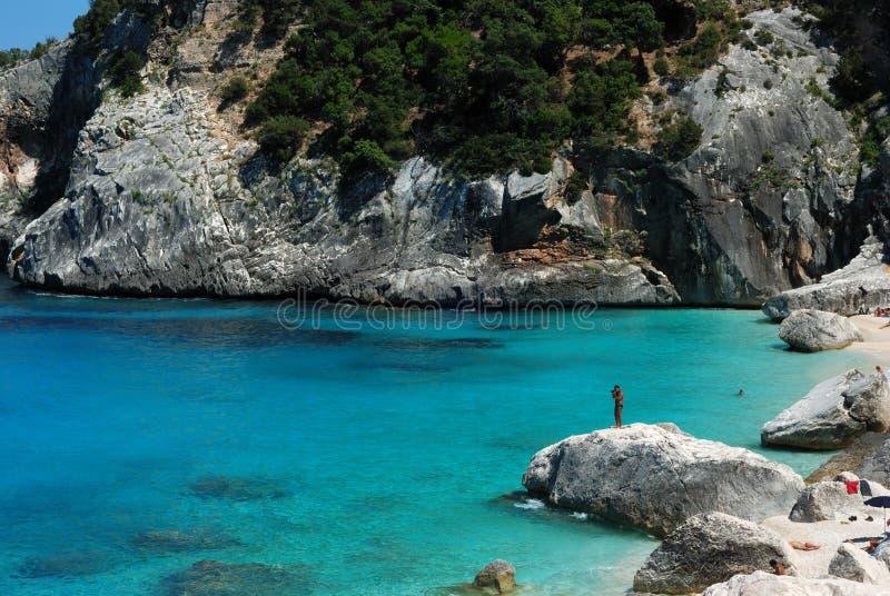 Cala goloritzè van Sardinige stock fotografie