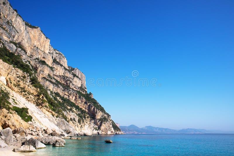 Cala Goloritze海滩,撒丁岛,意大利 库存图片