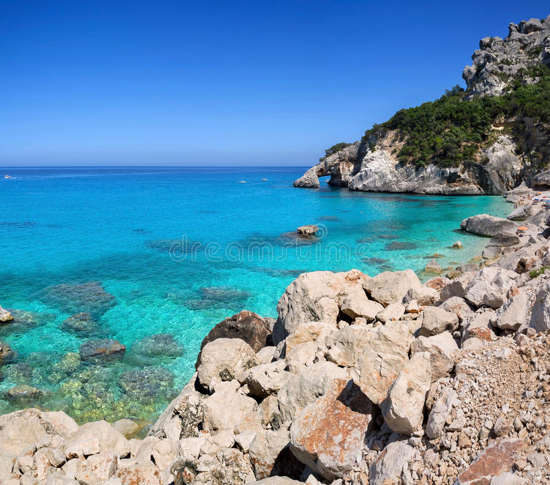 Cala Goloritze,撒丁岛 免版税库存照片