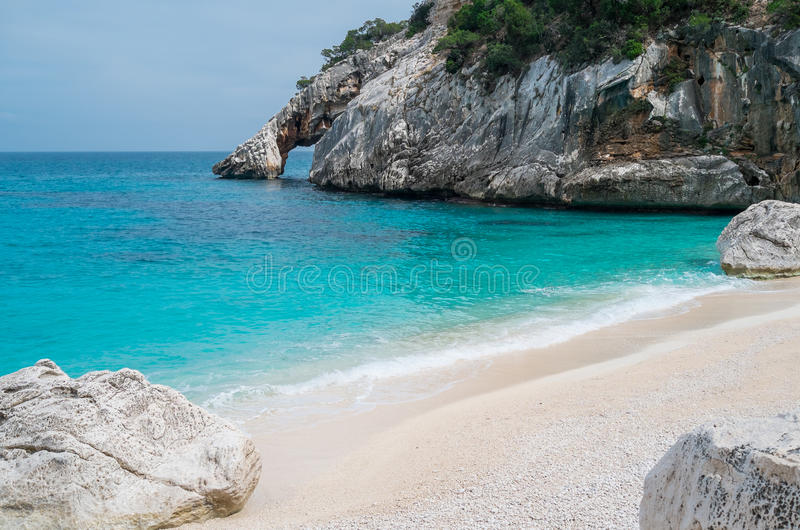 Cala Goloritze beach stock photography