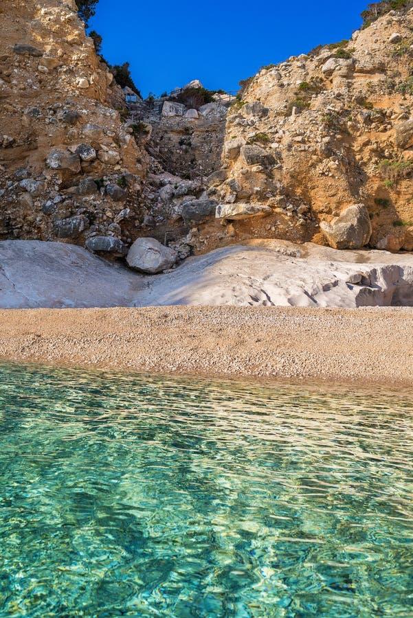 Cala Goloritze beach, Sardinia, Italy royalty free stock photography