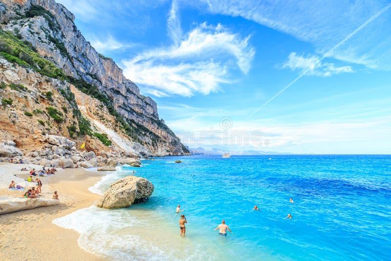 Cala Goloritze plaża, Sardegna fotografia stock