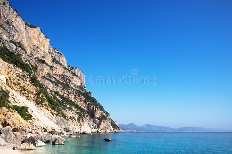Cala Goloritze plaża, Sardinia, Włochy obraz stock