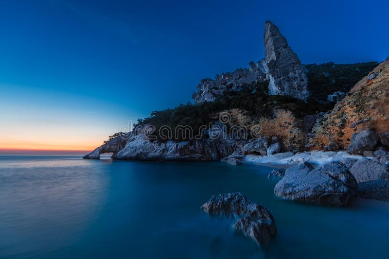 Cala Goloritze before Sunrise stock image