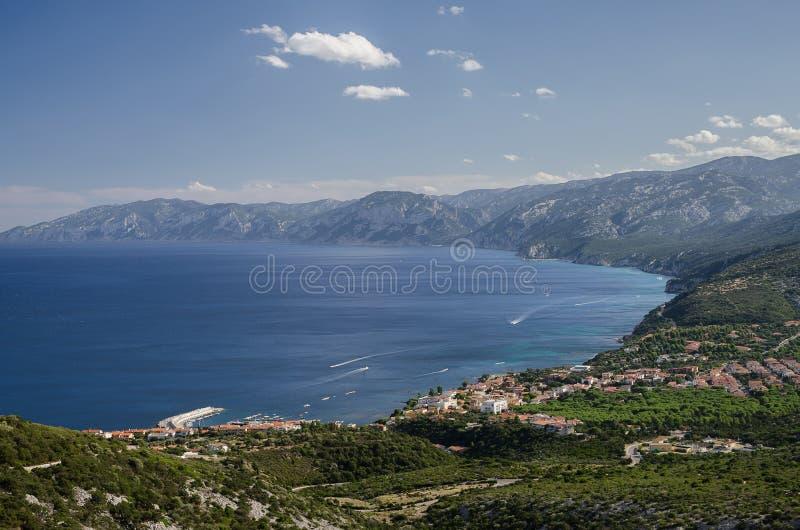 Cala Gonone baai, Sardinige stock afbeeldingen