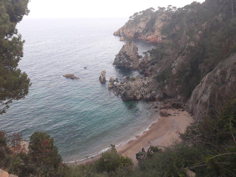 Cala Gr Golfet, Cataluña stock afbeelding