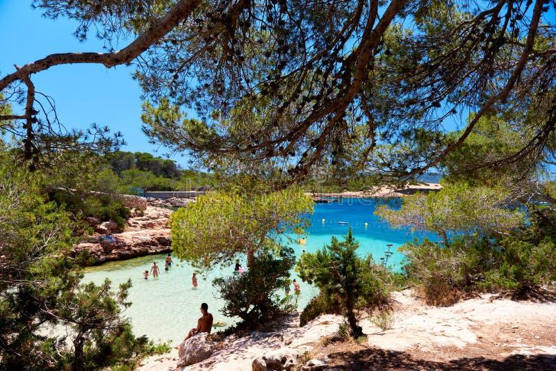 Cala Gracio海滩 免版税库存照片