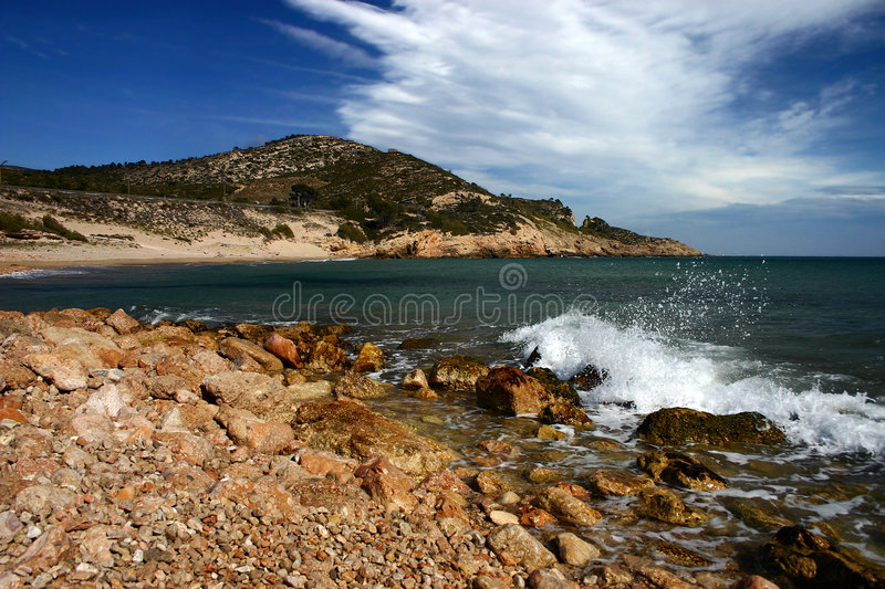 Cala Justell (secluded creek) royalty free stock photos