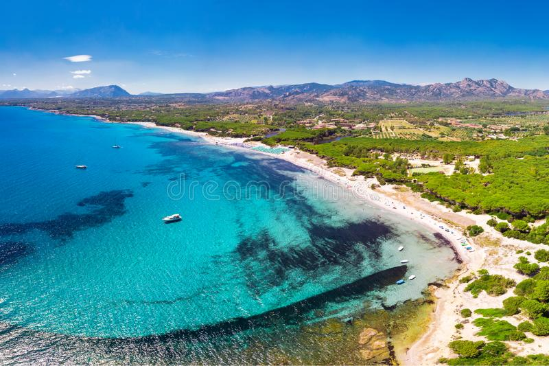 Cala Liberotto i Cala Ginepro wyrzucać na brzeg na Sardinia wyspie, Sardinia, Włochy, Europa zdjęcie royalty free