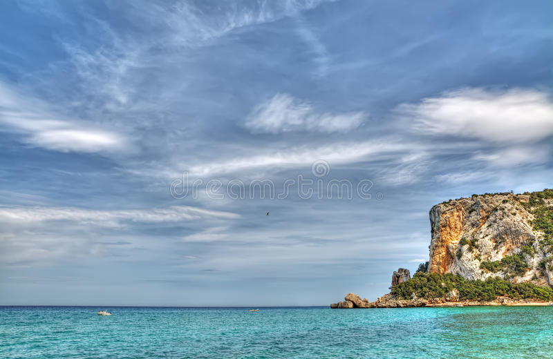 Cala Luna ακτή στοκ εικόνα