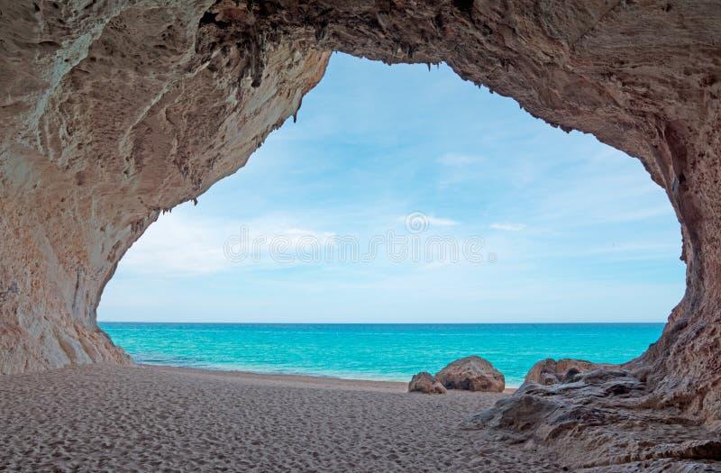 Cala luna σπηλιά στοκ εικόνες