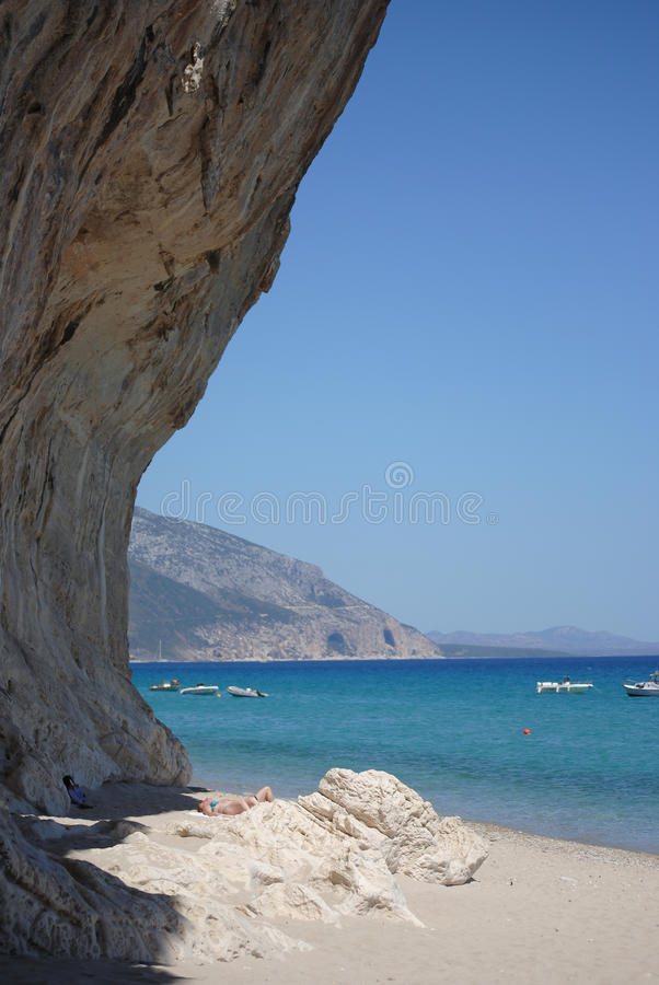Cala Luna Beach in Sardinia royalty free stock photography