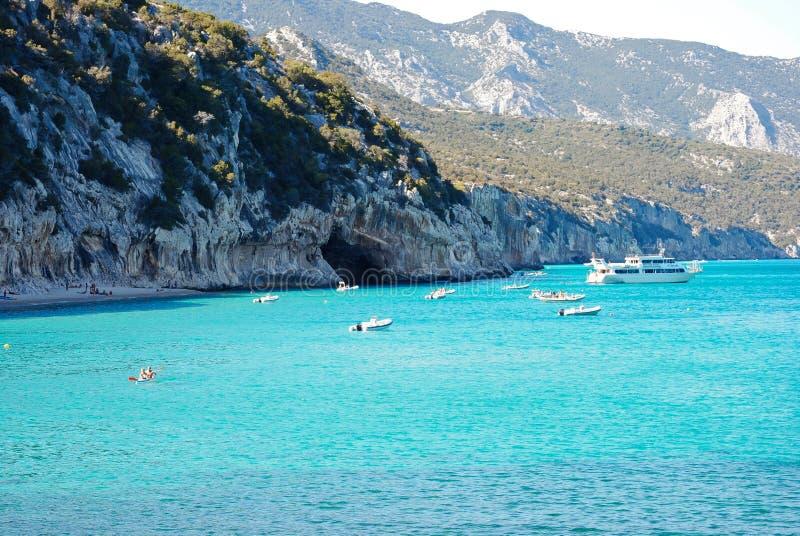 Cala Luna.Emerald waters in Sardinia stock photo