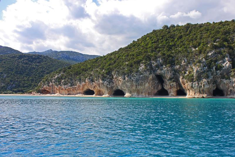 Cala Luna plaża na Sardinia zdjęcia stock