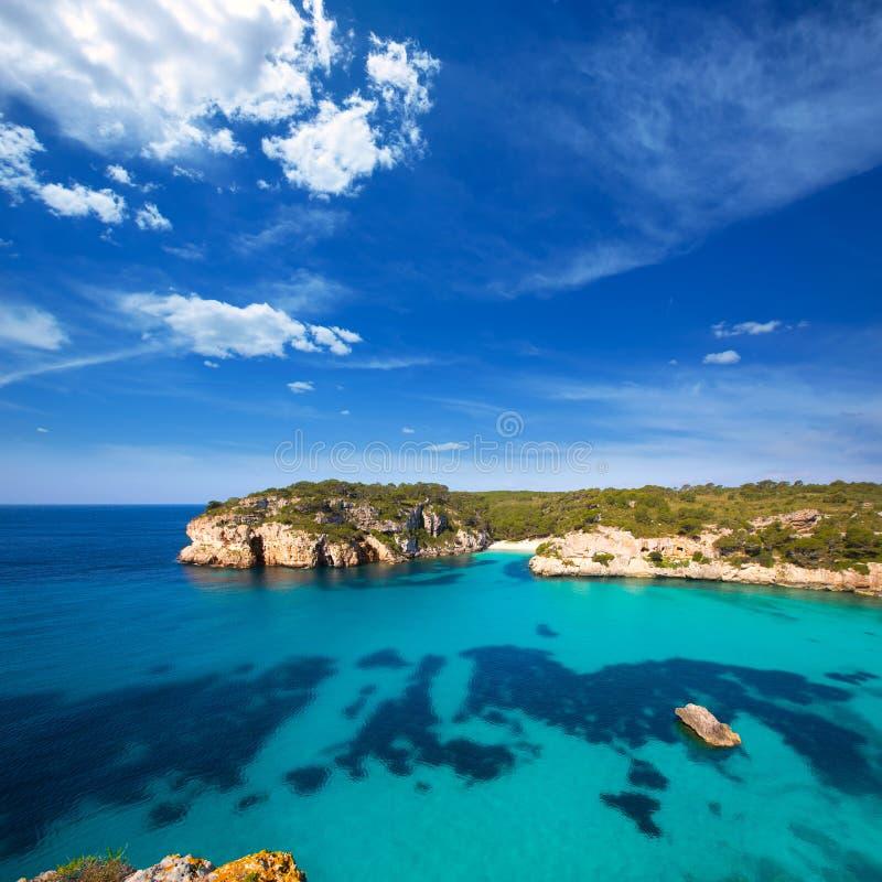 Cala Macarella Macarelleta Cituradella w Menorca Balearic obrazy stock