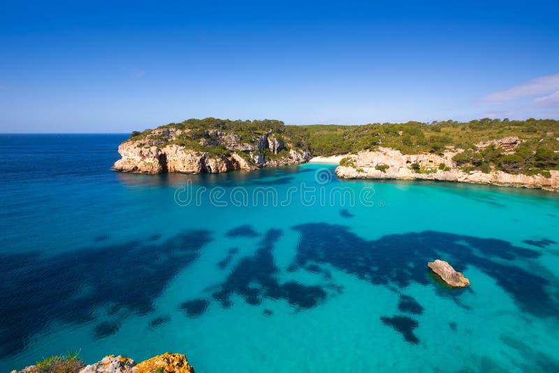 Cala Macarella Macarelleta Cituradella w Menorca Balearic zdjęcia royalty free