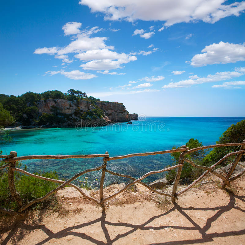 Cala Macarella Menorca turkusowy Balearic Śródziemnomorski obraz royalty free