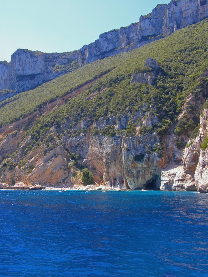 Cala Mariolu beach in Sardinia - Italy stock images