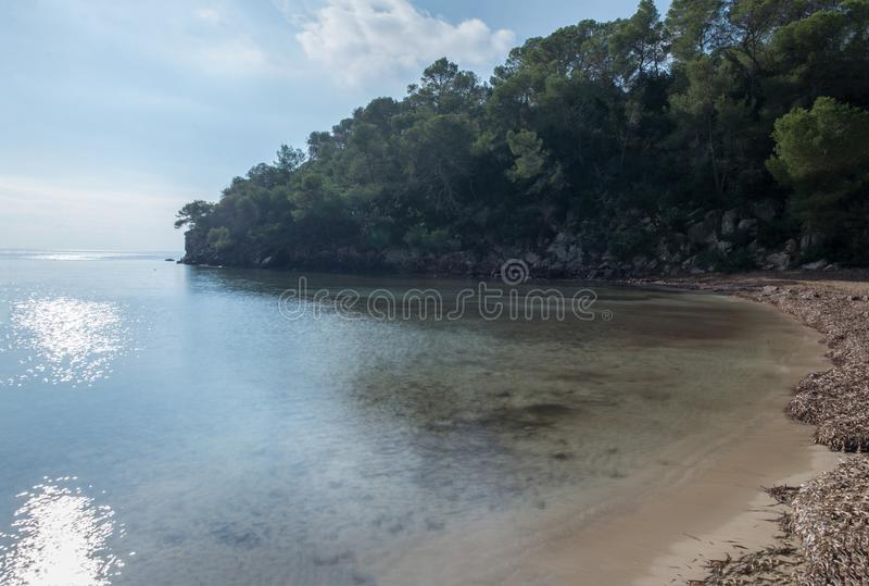 The cala mastella in Ibiza, Balearic Islands. Spain royalty free stock images