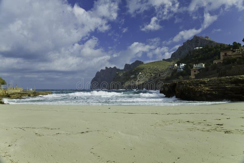 Cala Molins in Majorca Island stock image