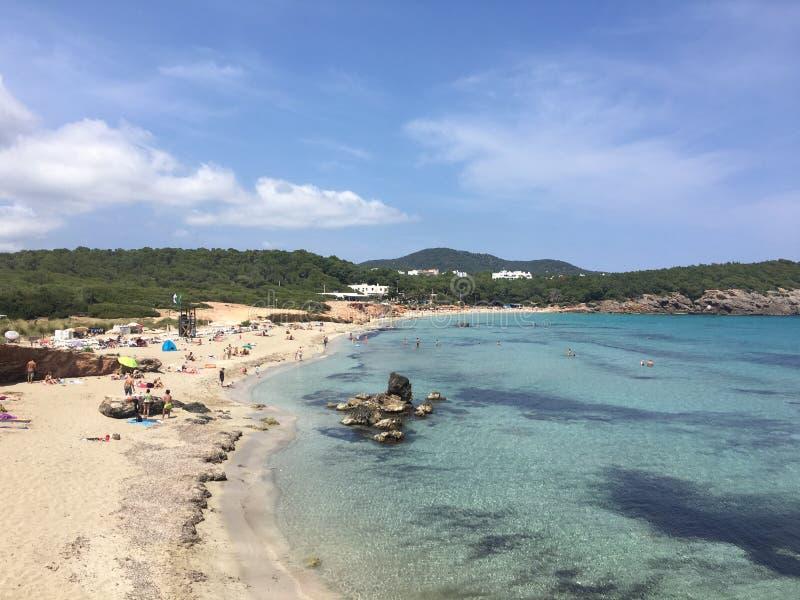 Cala Nova Beach, Ibiza fotografia de stock royalty free