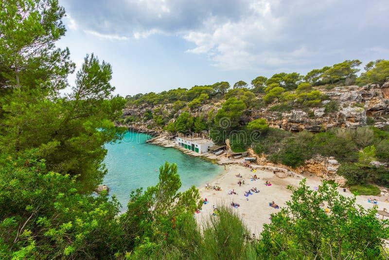 Cala pi κόλπος, Μαγιόρκα, βαλεαρίδες, Ισπανία στοκ εικόνες