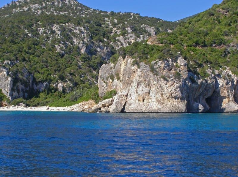 cala plażowy fuili Italy Sardinia fotografia royalty free