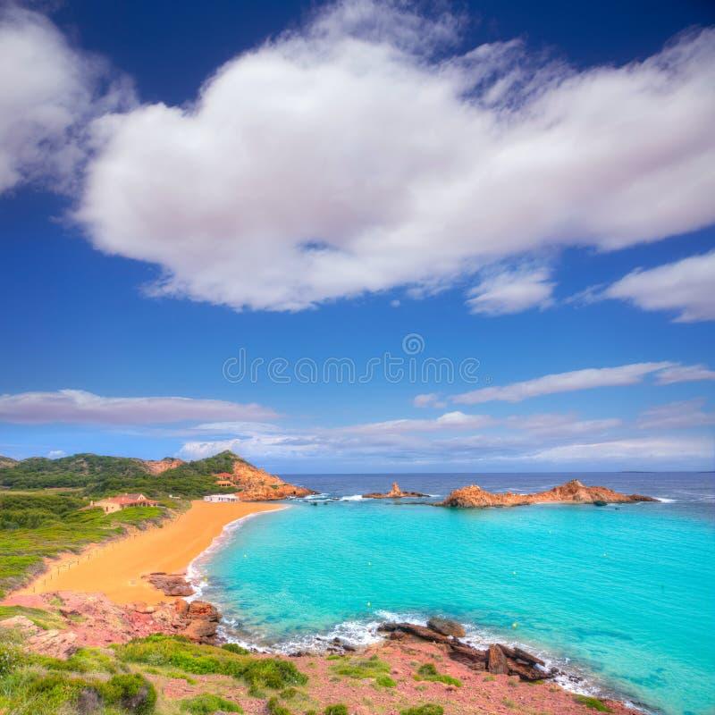 Cala Pregonda in Menorca at Balearic islands royalty free stock photo