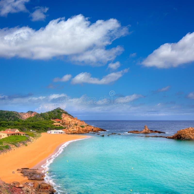 Cala Pregonda in Menorca at Balearic islands royalty free stock photography