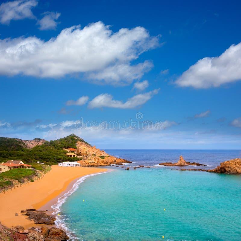 Cala Pregonda in Menorca at Balearic islands stock photos