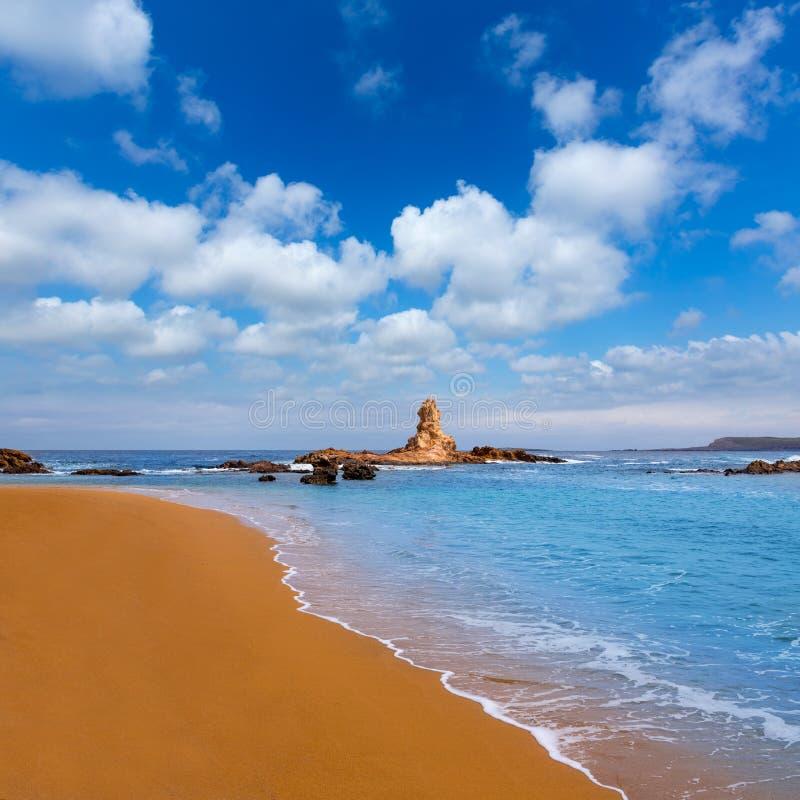 Cala Pregonda in Menorca at Balearic islands royalty free stock images