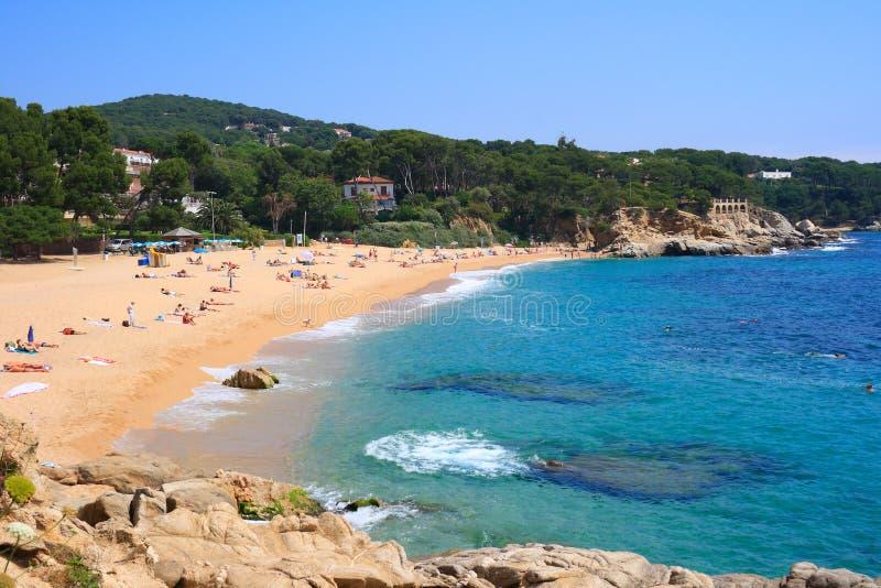 Cala Rovira strand (Costa Brava, Spanje) royalty-vrije stock afbeelding