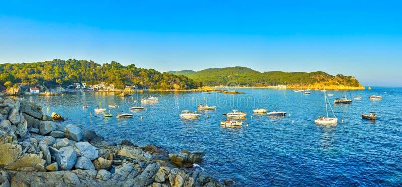 Cala S`Alguer Cove Palamos, Girona, Katalonien, Spanien lizenzfreie stockfotos