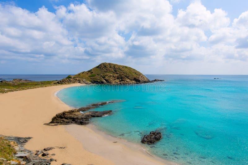 Cala Sa Mesquida Mao Mahon Menorca τυρκουάζ παραλία στοκ φωτογραφία με δικαίωμα ελεύθερης χρήσης