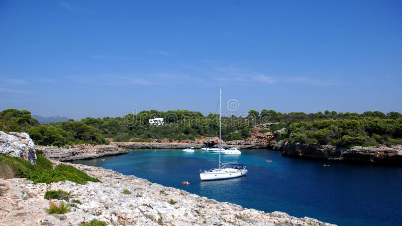 Cala Sa Nau (Mallorca) royalty free stock photography