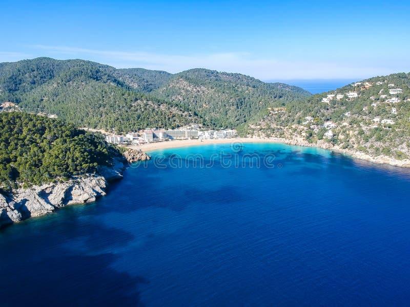 Cala San Vicente, Ibiza, Espanha fotos de stock