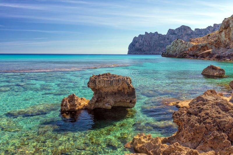Cala Sant Vincente, Mallorca fotografia de stock