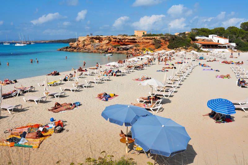 Cala Saona Beach in Formentera stock photography