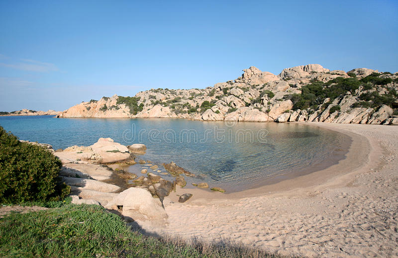 Cala Spalmatore La Maddalena (Sardinien - Italien) lizenzfreies stockfoto
