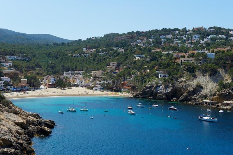 Cala Vadella Ibiza Spain imagens de stock royalty free
