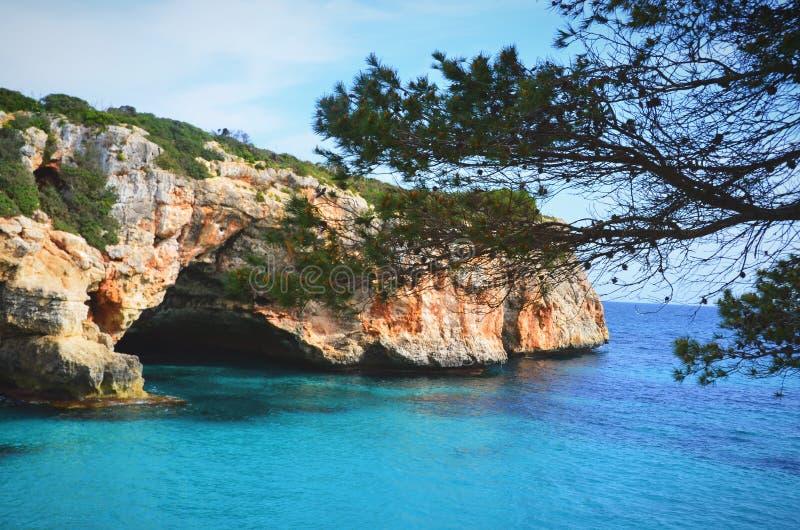 Cala Varques, Mallorca royalty-vrije stock afbeelding