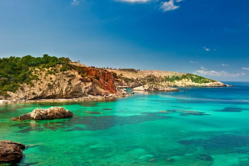 Cala Xarraca, Ibiza Spanje royalty-vrije stock fotografie